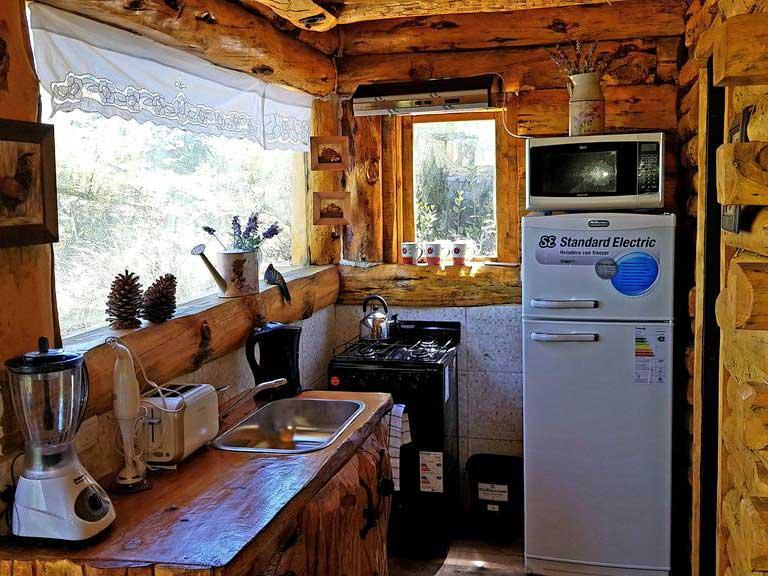 Cabañas El Bosque - Cocina con vista